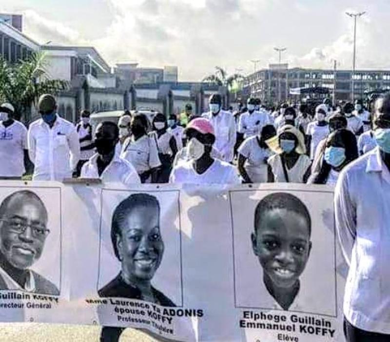 Deuil : le dernier hommage à la famille Adonis-Koffi