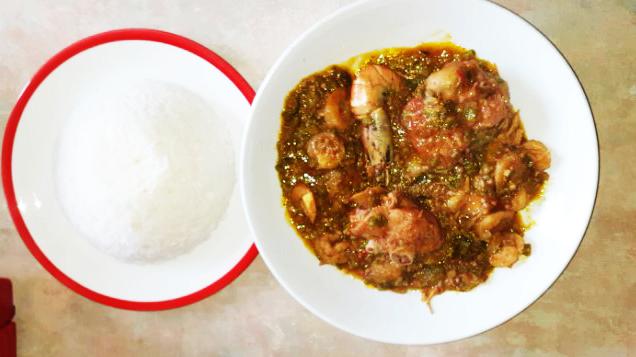 Recette proposée par une internaute : Cooking with Madi sauce gombo à la dinde fumée et aux 3 crevettes