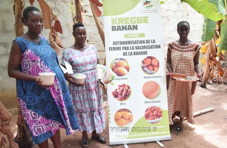 Transformation de la banane plantain: les femmes de Krégbé tirent 27 recettes du plantain