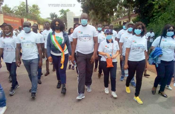 Côte d'Ivoire : les journalistes marchent pour la liberté de la presse