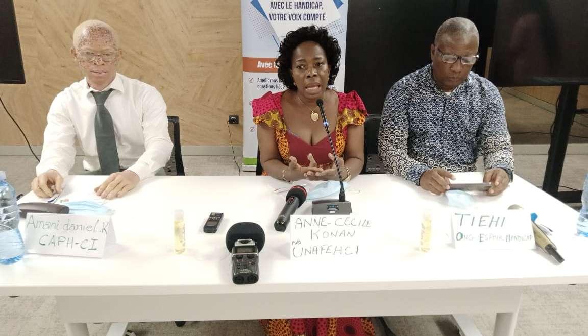 Anne Cécile Konan aux journalistes: «Nous vivons dans une société où la notion du handicap est dévalorisante»